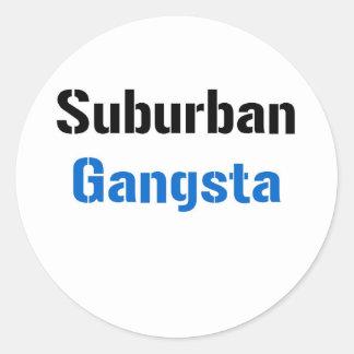Gangsta suburbano pegatina redonda