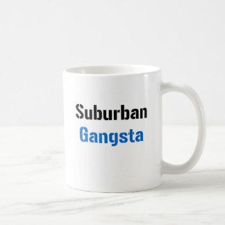 Gangsta suburbano taza básica blanca