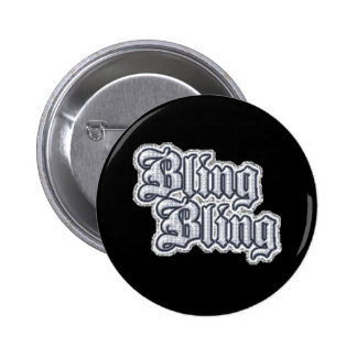 Gangsta Thug Bling Glitter Graphic Comments | Grap Pinback Button
