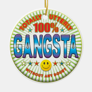 Gangsta Totally Round Ceramic Decoration