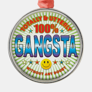 Gangsta Totally Silver-Colored Round Decoration
