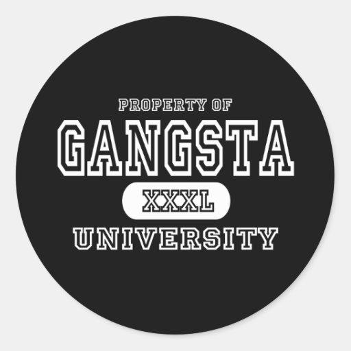 Gangsta University Dark Classic Round Sticker