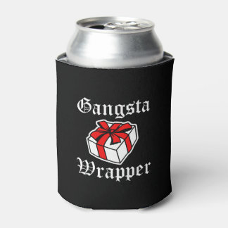 Gangsta Wrapper funny Christmas gift Can Cooler