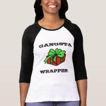 Gangsta wrapper funny Christmas T-shirt