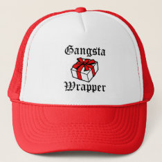 Gangsta Wrapper Funny Women's Christmas Hat at Zazzle
