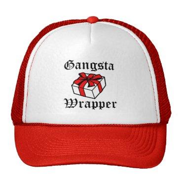 Christmas Themed Gangsta Wrapper funny women's Christmas hat
