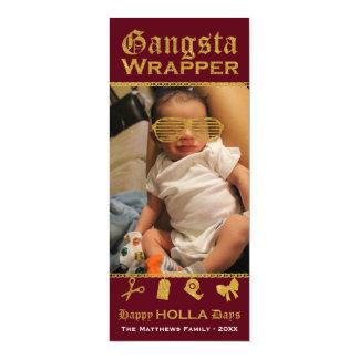 Gangsta Wrapper Happy HOLLA Days Christmas Card