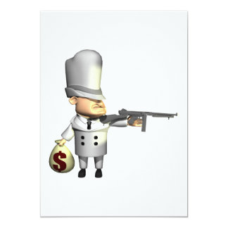 Gangster 5x7 Paper Invitation Card