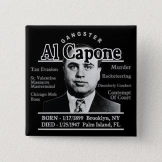 Gangster Al Capone Button