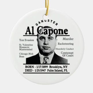 Gangster Al Capone Ceramic Ornament