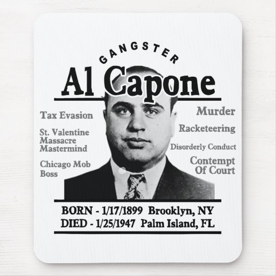 Gangster Al Capone Mouse Pad