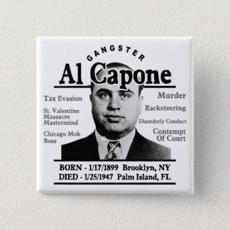 Gangster Al Capone Pinback Button