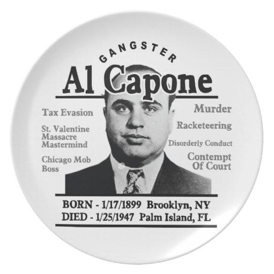 Gangster Al Capone Plate