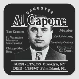 Gangster Al Capone Square Sticker