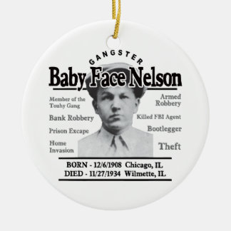Gangster Baby Face Nelson Ceramic Ornament