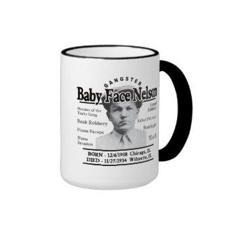 Gangster Baby Face Nelson Ringer Coffee Mug