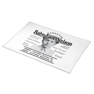 Gangster Baby Face Nelson Placemat