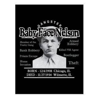 Gangster Baby Face Nelson Postcard