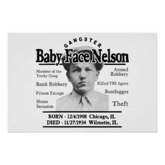 Gangster Baby Face Nelson Poster