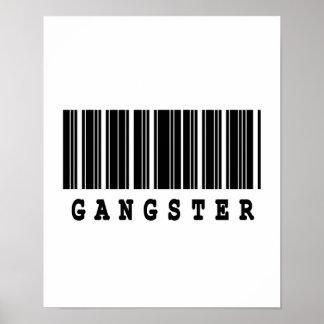 gangster barcode design poster