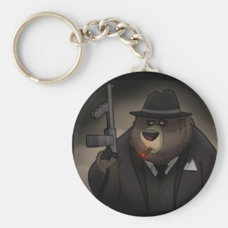 Gangster Bear Keychain