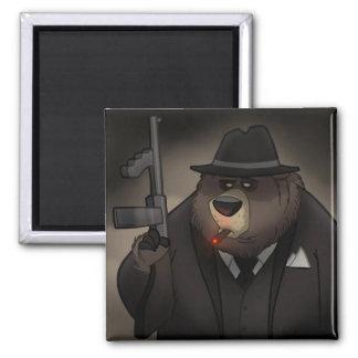 Gangster Bear Magnet