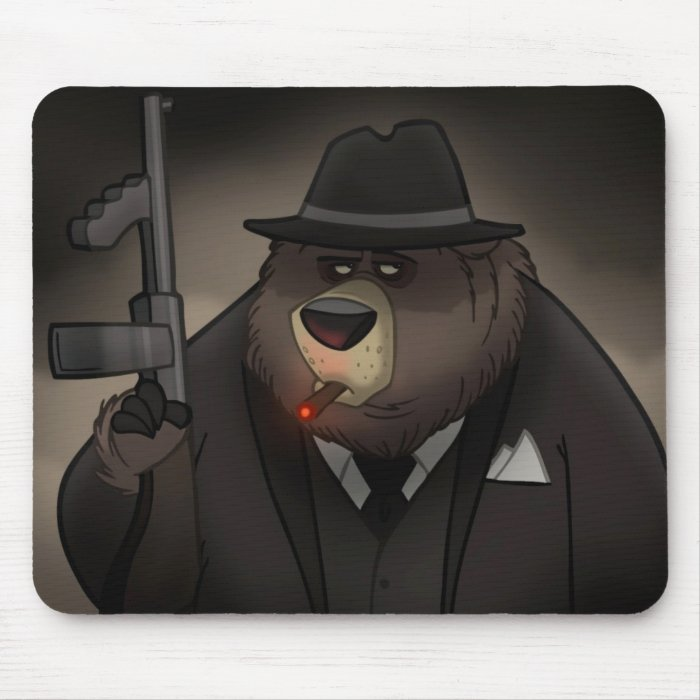 Gangster Bear Mousepad
