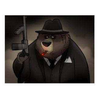Gangster Bear Postcard