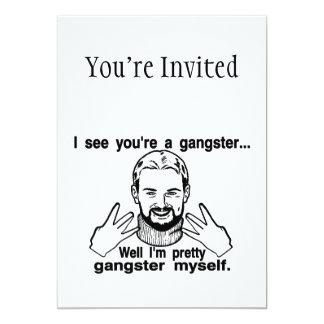 Gángster bonito mismo invitación personalizada