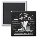 Gangster Bugsy Siegel 2 Inch Square Magnet