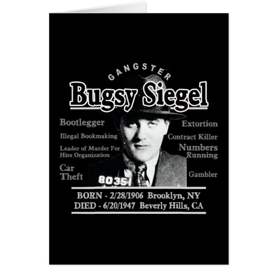 Gangster Bugsy Siegel Card