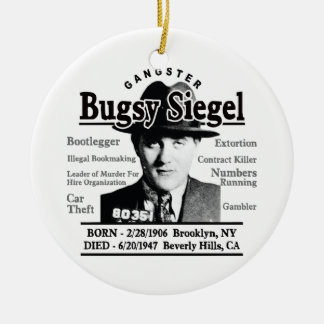 Gangster Bugsy Siegel Ceramic Ornament