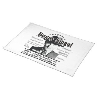 Gangster Bugsy Siegel Cloth Placemat