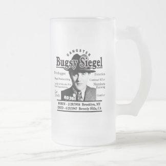 Gangster Bugsy Siegel Frosted Glass Beer Mug