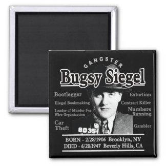 Gángster Bugsy Siegel Imán Cuadrado