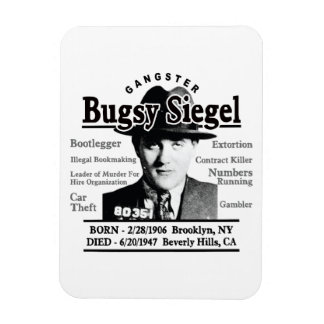 Gangster Bugsy Siegel Magnet