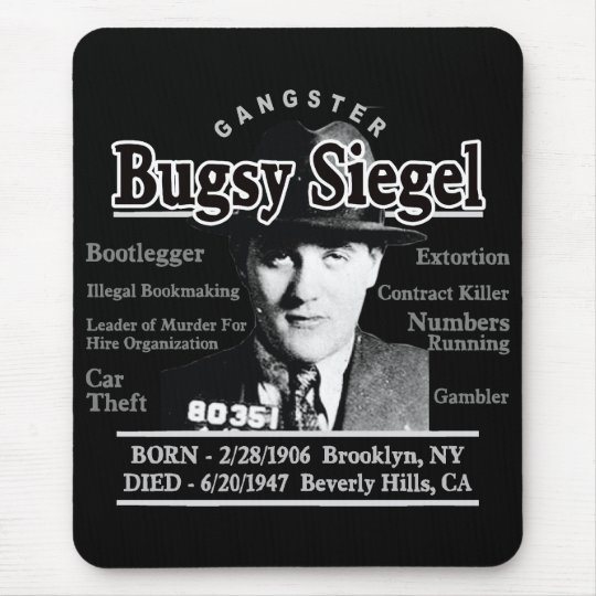 Gangster Bugsy Siegel Mouse Pad