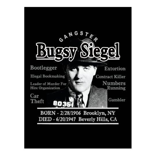 Gangster Bugsy Siegel Postcard