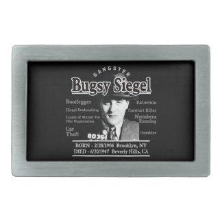 Gangster Bugsy Siegel Rectangular Belt Buckle
