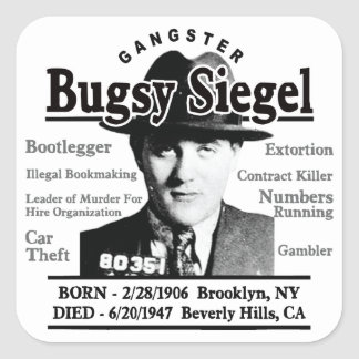Gangster Bugsy Siegel Stickers
