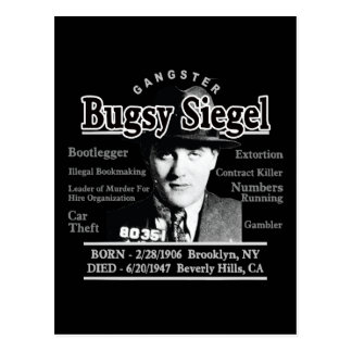 Gángster Bugsy Siegel Tarjetas Postales