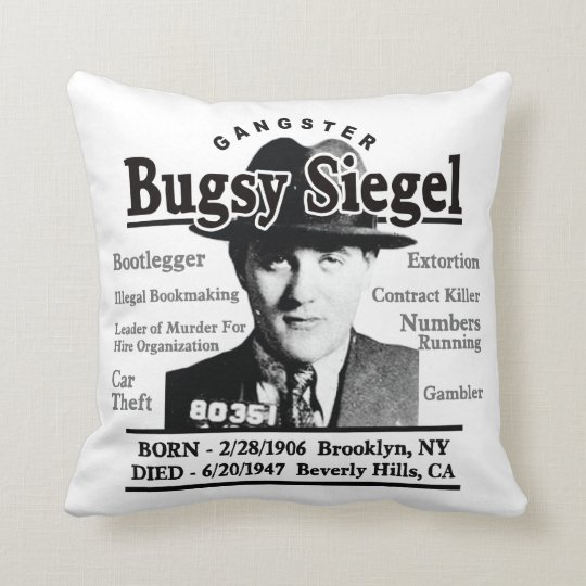 Gangster Bugsy Siegel Throw Pillow
