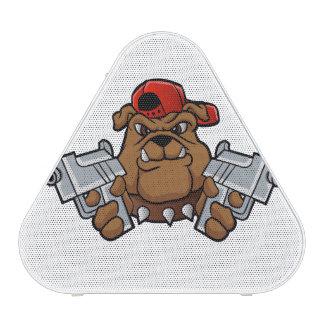gangster bulldog  with pistols bluetooth speaker