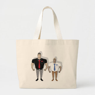 Gangster cartoon large tote bag
