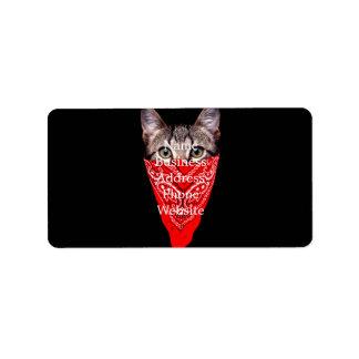 gangster cat - bandana cat - cat gang label
