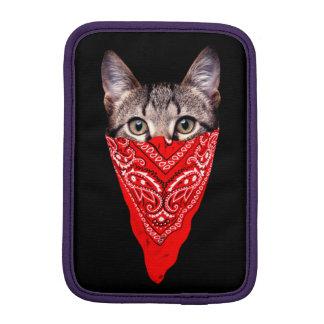 gangster cat - bandana cat - cat gang sleeve for iPad mini