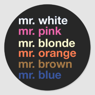 Gangster Colors Classic Round Sticker