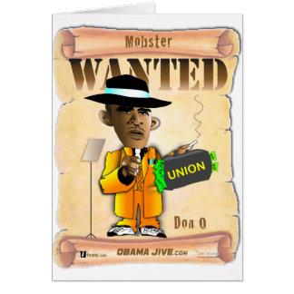 Gángster de Don O Tarjeta De Felicitación