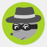 Gángster del mapache pegatinas redondas
