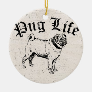 Gángster divertido del perro de la vida del barro  ornamentos para reyes magos